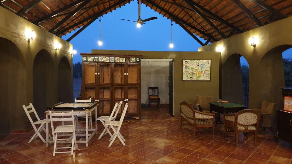 Reception cum Lounge Bodhvann Resort Tadoba 5 dhbhwh