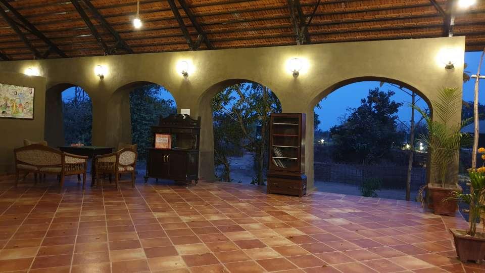 Reception cum Lounge Bodhvann Resort Tadoba 6 pmntkr