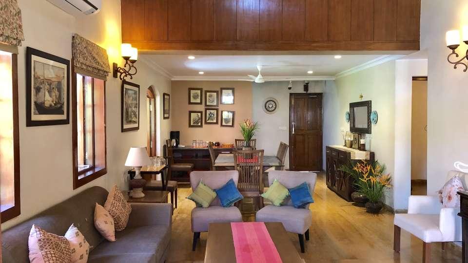 Living Area- The Bungalows Light House Goa 2