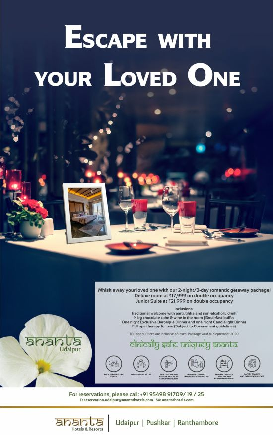 Ananta Udaipur Romantic Package Emailer Unit