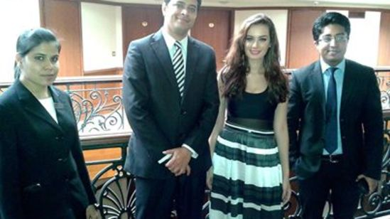 Evelyn Sharma at The Orchid Hotel Mumbai