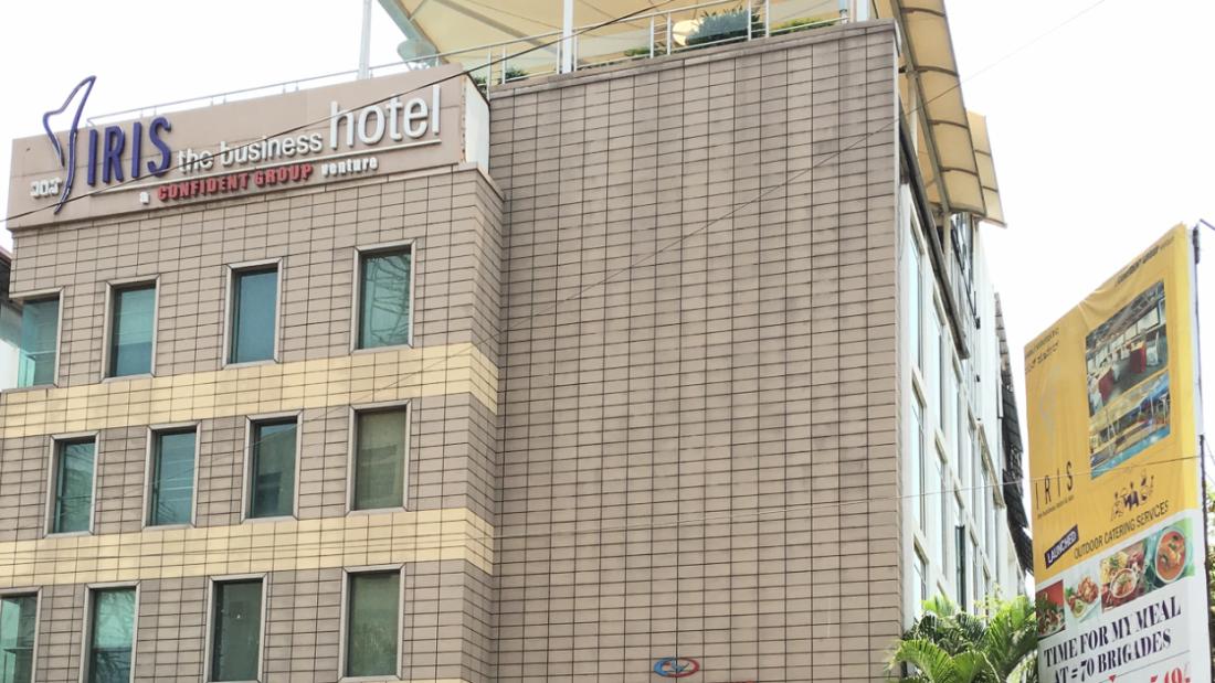 Iris Hotel, MG Road, Bangalore Bangalore IRIS Hotel MG Road Bangalore -Front View