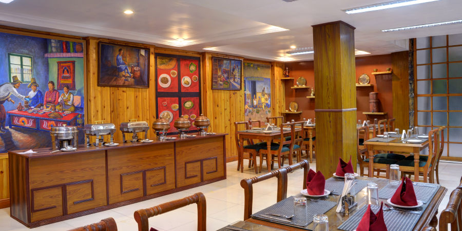 alt-text Restaurant at Mount Himalayan Resort in Darjeeling