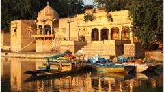 Gadisar lake Sairafort Sarovar Portico Jaisalmer hotel palace in jaisalmer