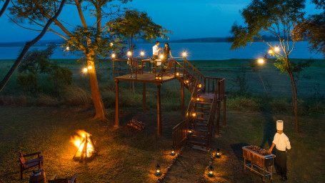 Romantic Dinners at The Serai Kabini, Resorts in Kabini, Waterfront Resorts in Kabini