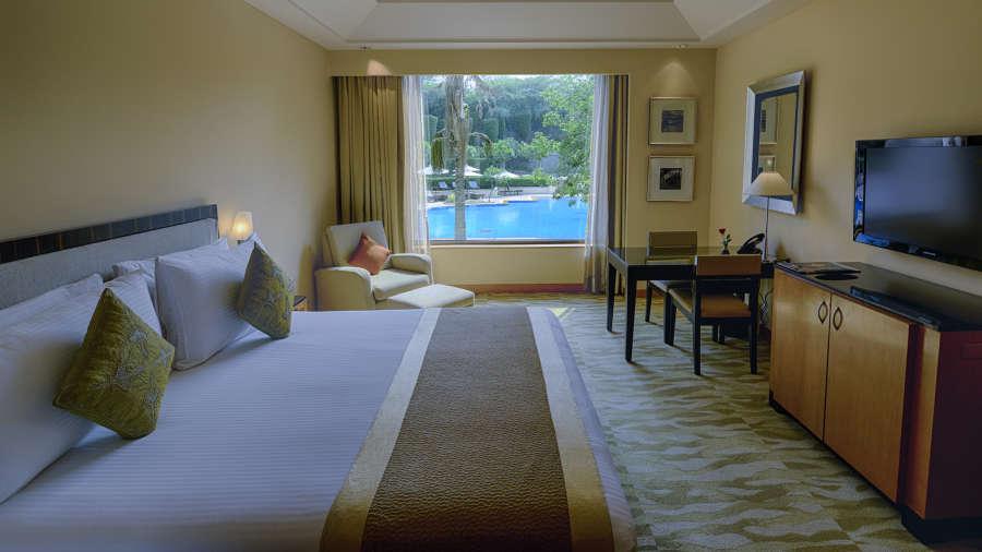 The Grand New Delhi New Delhi Grand Deluxe Pool View Room at The Grand New Delhi Hotel on Nelson Mandela Road