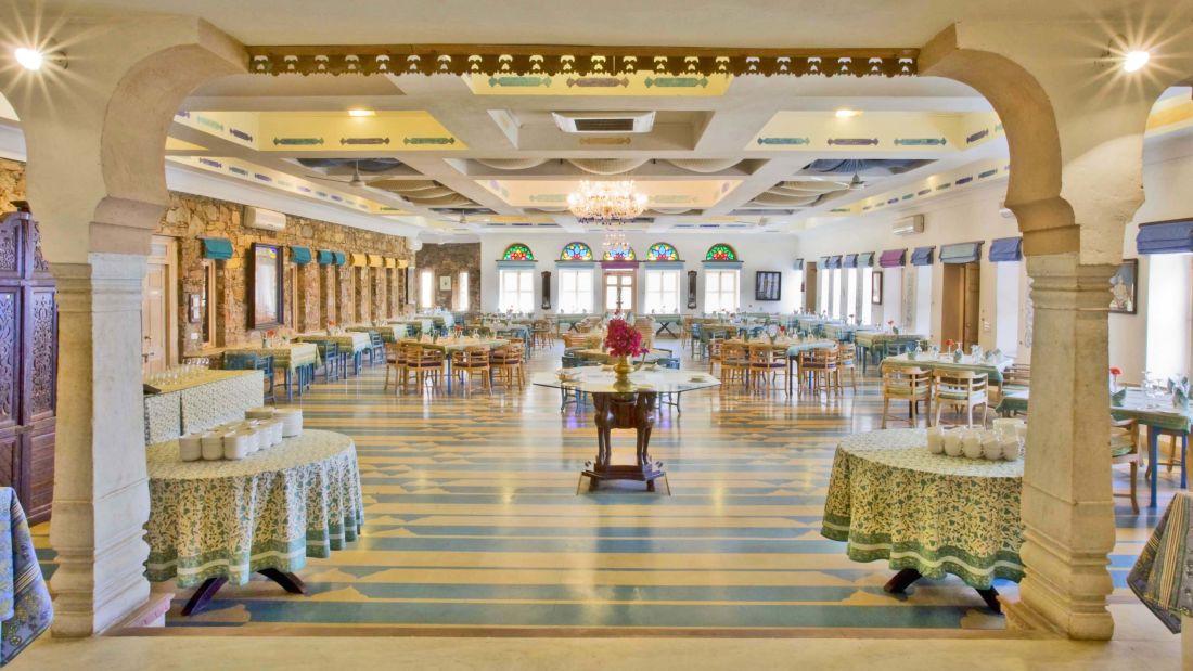 Jalgiri Mahal, Neemrana Fort Palace, Rajasthan restaurants