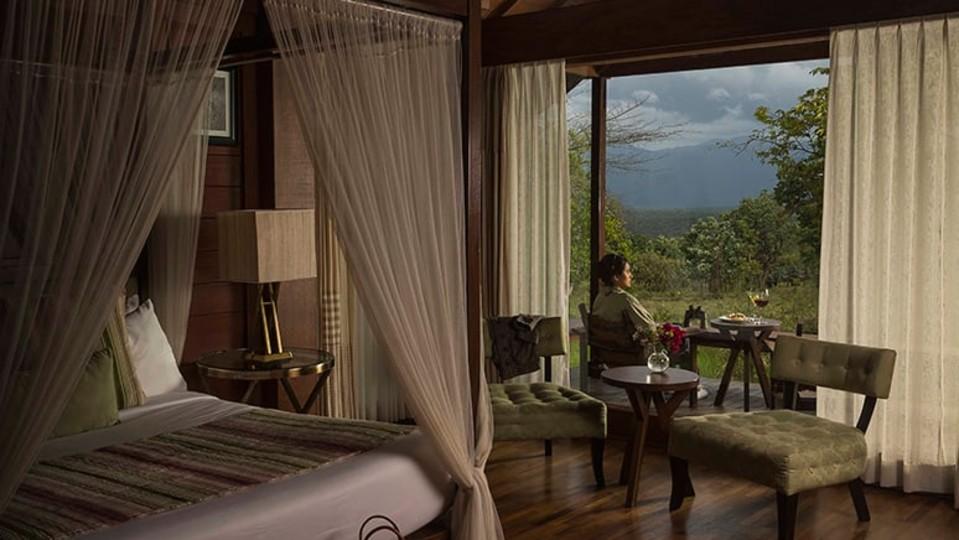 Mountain View Log Hut, Stay in Bandipur, The Serai Bandipur,  Luxury Resorts in Bandipur