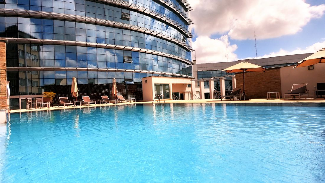 Swimming pool at Boma Nairobi, hotel in Nairobi