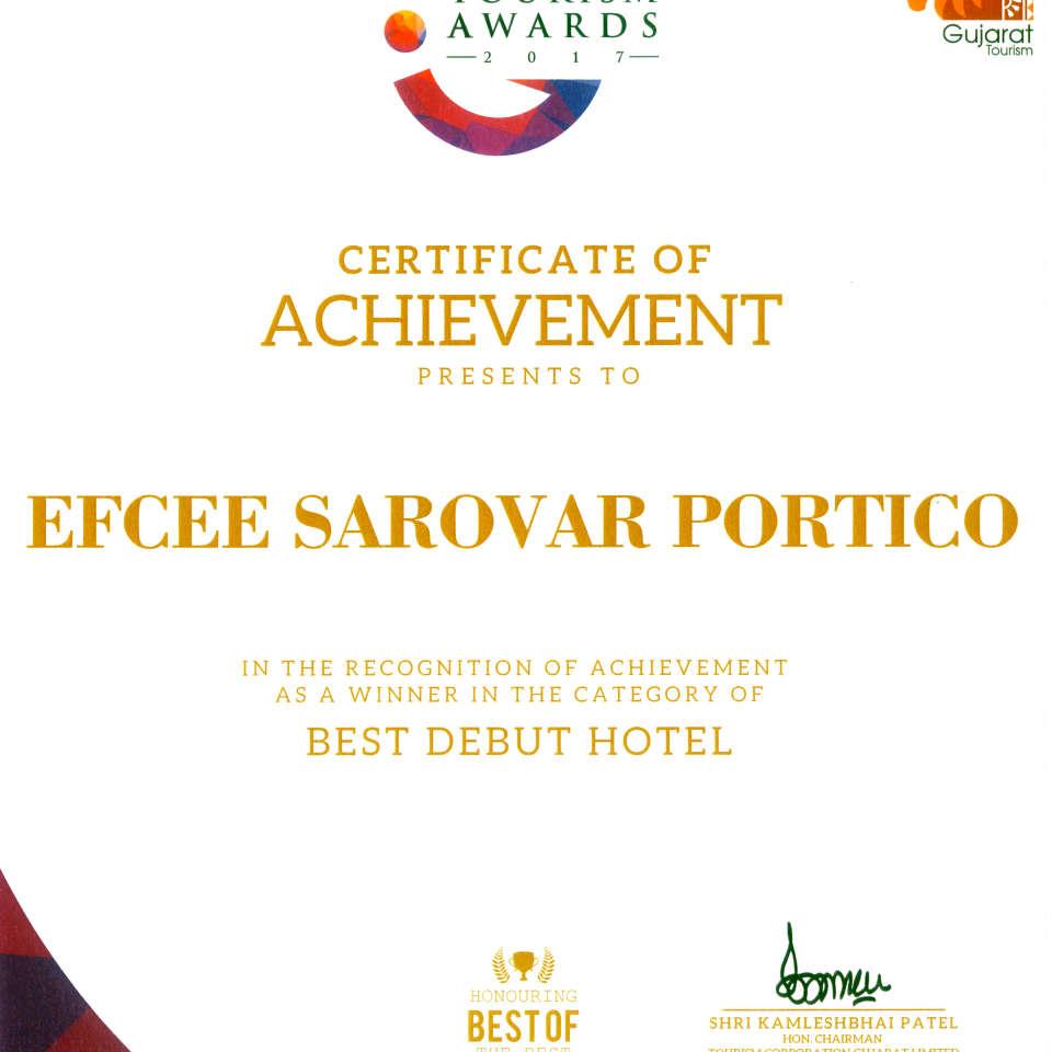 Gujarat Tourism Awards 2017 Best Debut Hotel 1