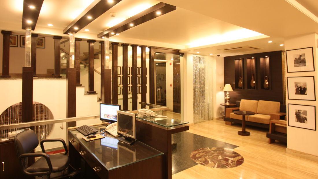 Emblem Hotel, New Friends Colony, New Delhi Delhi Reception and lobby Emblem Hotel New Friends Colony New Delhi