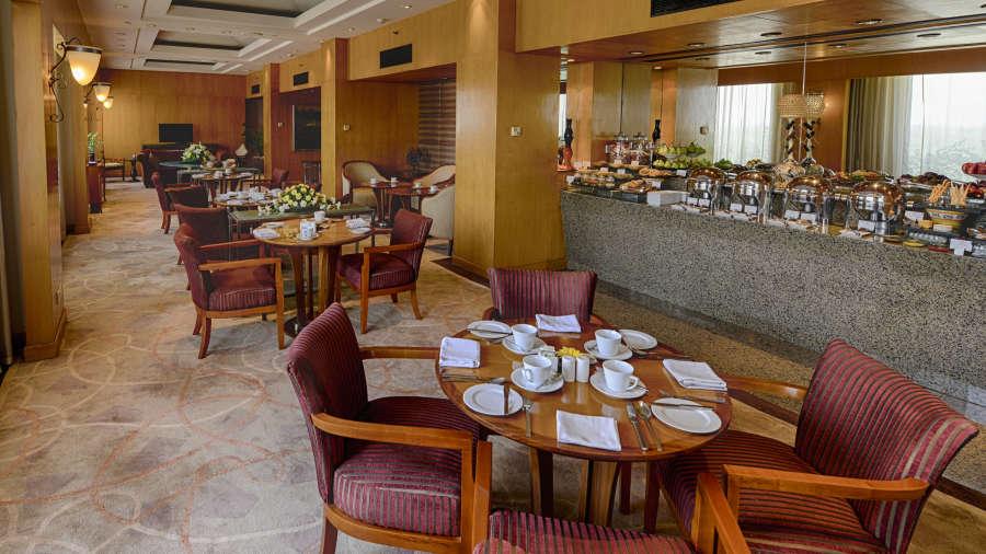 The Grand New Delhi New Delhi Grand Club Loungue at The Grand New Delhi Hotel on Nelson Mandela Road