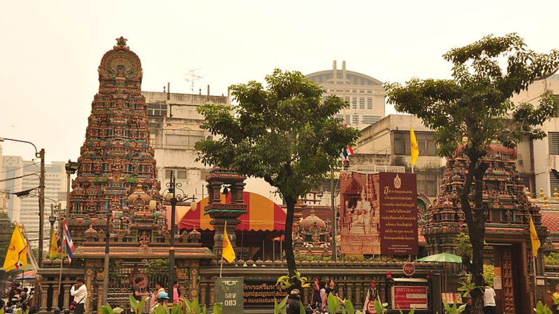 Wat Khaek Silom Sri Mariamman Hindu temple in Bangkok Thailand