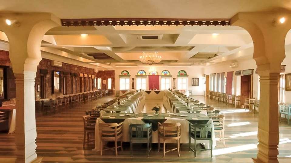 Neemrana Fort Palace Neemrana Conference Hall1 Hotel Neemrana Fort Palace Neemrana Rajasthan