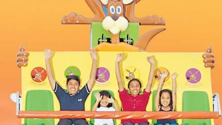 Kids Rides - Happy Kangaroo at  Wonderla Kochi Amusement Park