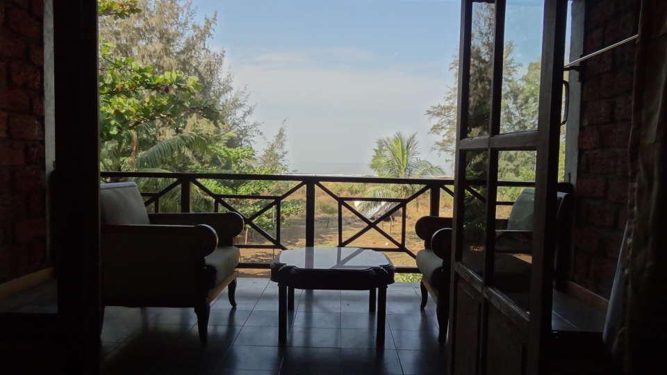Lotus Beach Resort, Murud Beach, Ratnagiri Ratnagiri Lotus - Deluxe Sea Facing Rooms Patio2 Lotus Beach Resort Murud Beach Ratnagiri