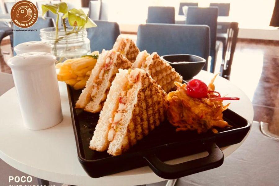 alt-text sandwich platter, best restaurants in ahmedabad 1