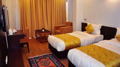 The Golden Crest Hotel Gangtok Gangtok Double Bedded Curatins closed
