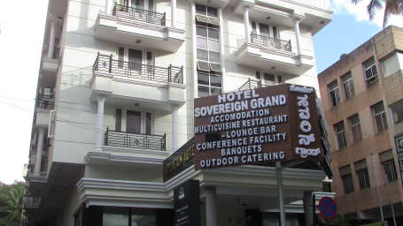 Hotel Sovereign Grand, Gandhi Nagar, Bangalore Bangalore facade 1 hotel sovereign grand gandhi nagar bangalore