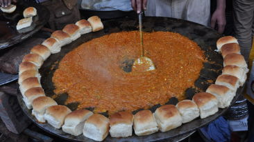 A Pav Bhaji stand at Chandni Chowk  Delhi