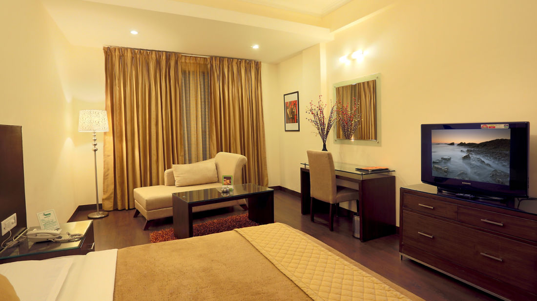 The Atrium on the Greens Katra Double Deluxe Room The Atrium on the Green Katra Jammu Kashmir
