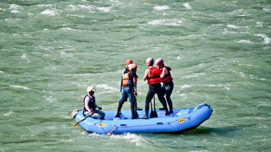 Rafting at Neemrana's Glasshouse on The Ganges - 21st Century  Neemrana hotel in Rishikesh