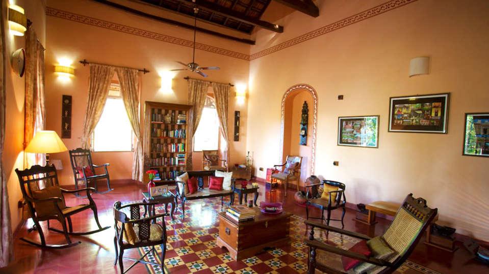Arco Iris - 19th C, Curtorim Goa Antique Goan furniture in the seating room Arco Iris - 19th C Curtorim Goa
