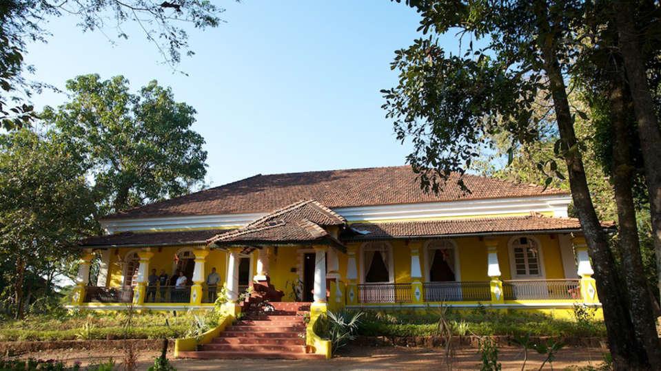 Arco Iris - 19th C, Curtorim Goa The front facade of Arco Iris Arco Iris - 19th C Curtorim Goa