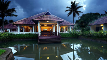 Lagoon Area at our resort in Kumarakom, Abad Whispering Palace, Kumarakom-20
