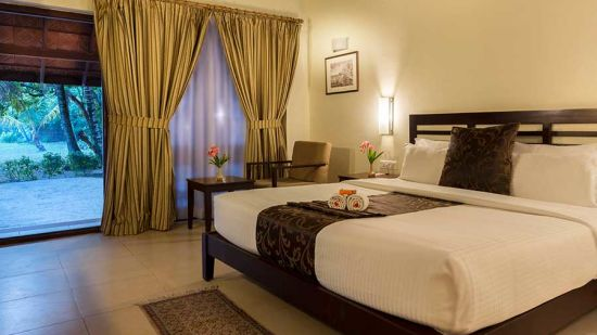 abad-turtle-resort-cottage-inside-bed-room,Contact Beach Resort in Marari, Beach resorts in Allepey, 4 Star Resorts in Alleppey, Best Beach Resorts in Alleppey, Best Beach Resorts Near Cochin, Beach Resorts in Kerala