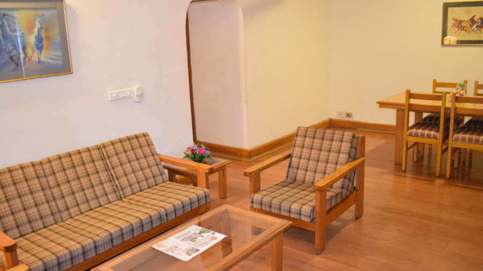 Living room area at our hotel in Cochin, Suites in Cochin, Hotel Abad Fort Kochi-11