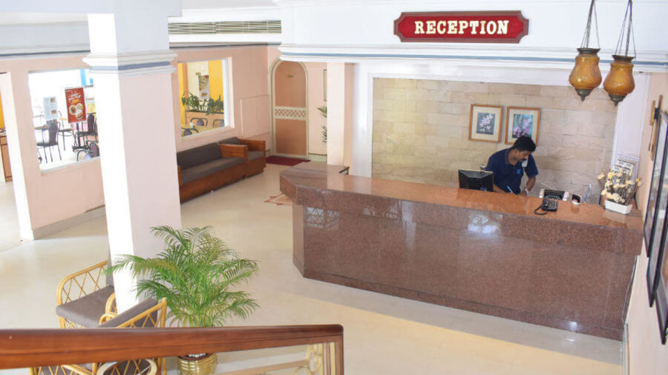 Reception area of our hotel in Cochin, Abad Fort Cochin-16