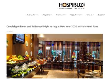 New Year 2020 at Pride Hotel Pune - HospiBuz 31-12-2019