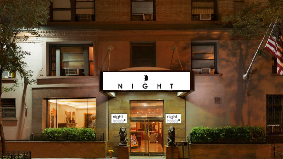 alt-text Entrance to Night Hotel Broadway