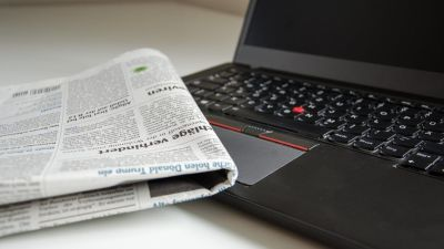 Newspaper at Hotel Sarovar Portico Naraina