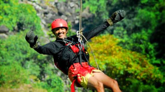 Abseiling at The River View Retreat - Corbett Resort Corbett