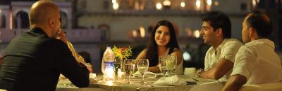 Dinner by the elephant stairway_ Hotel Tijara Fort Palace Alwar Rajasthan_Hotel In Rajasthan 2