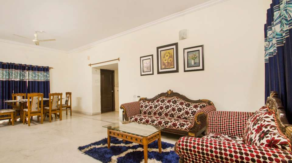 Living area at Hotel NirmalVilla Cherry Service Apartment - Begumpet Hyderabad 4