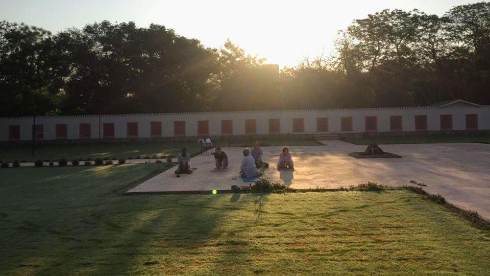 Yoga at the Rajputana Lawns - Umaid Lake Palace