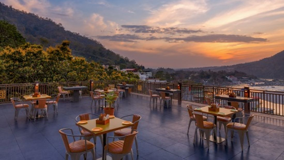 TERRACE OVERLOOKING FOREST GANGES