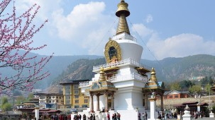 National Memorial Chorten Thimphu bhutan hotels Hotel Kisa
