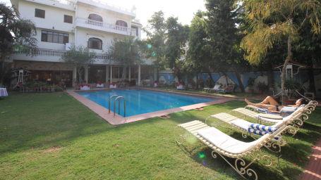 Pool Area Facade Hotel Meghniwas Jaipur Hotels in Jaipur 2