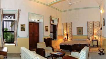 The Piramal Haveli - 20th C, Shekhavati Shekhavati White The Piramal Haveli Hotel in Shekhavati Rajasthan