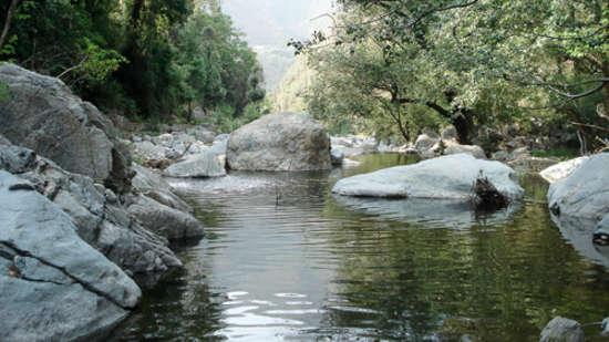 The Ramgarh Bungalows - 19th C, Kumaon Hills Kumaon The river in Talla Ramgarh