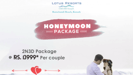 Honeymoon Package, Lotus Eco Beach Resort Konark. Hotel Near Konark Beach