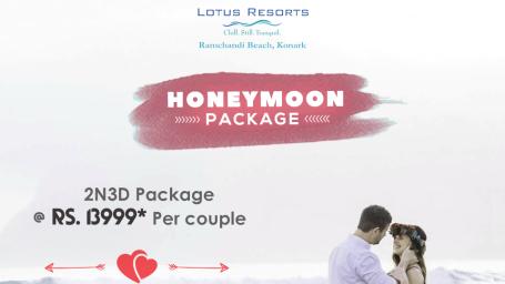 Honeymoon PackageWeekdays Package  Lotus Eco Resort Konark Resort in Konark near Sun Temple