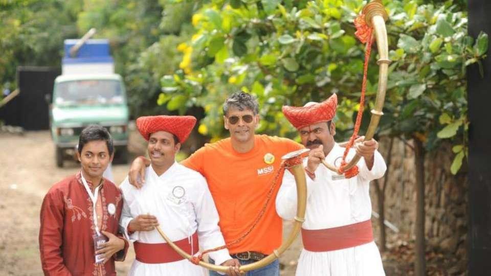 Milind Soman at Fort Jadhavgadh Heritage Resort Hotel Pune