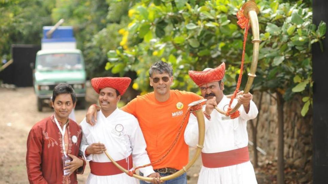 Milind Soman at Fort Jadhavgadh Heritage Resort Hotel Pune