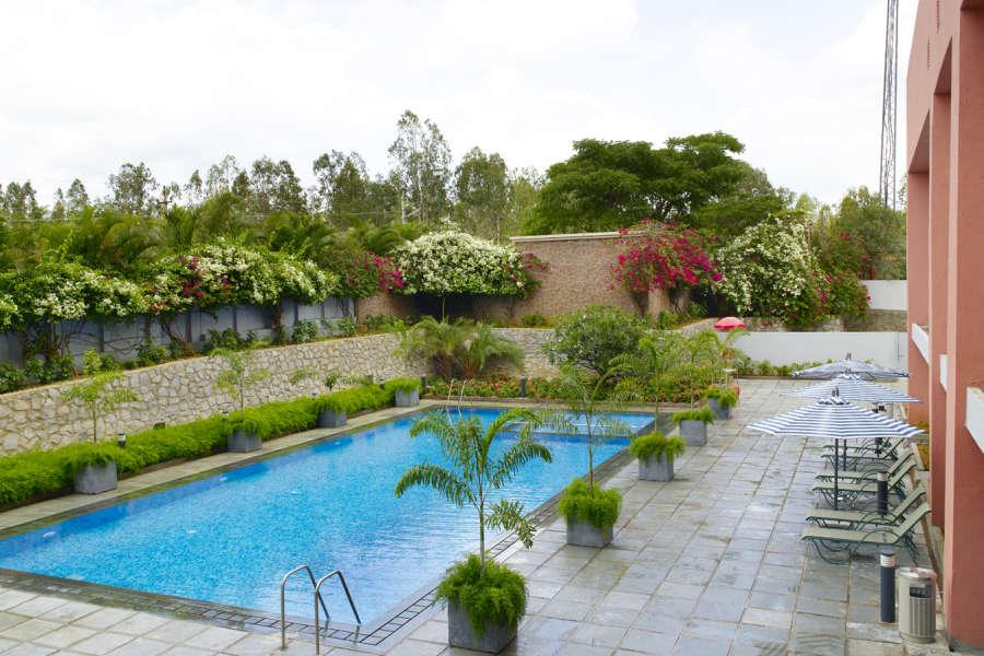 alt-text Swimming Pool at Wonderla Resort Bangalore