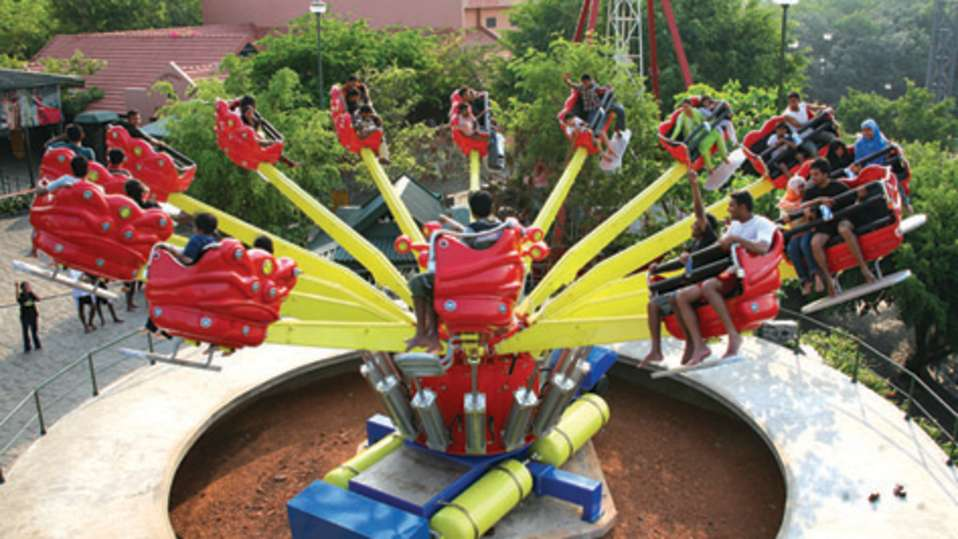 Thriller Rides - Super jumber at Wonderla Kochi Amusement Park